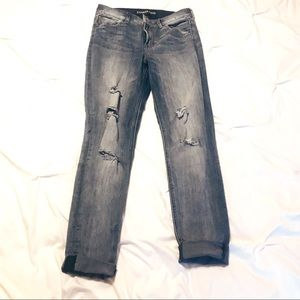 Express Ankle ripped Jean leggings Like new